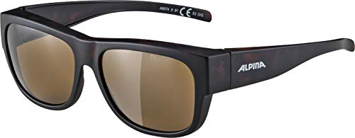 ALPINA Erwachsene Overview II P Outdoorsport-Brille, Havana Matt, One Size