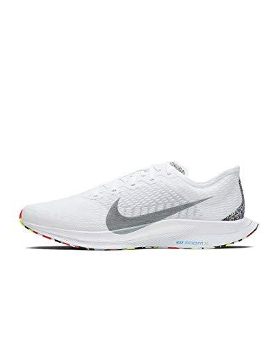 Nike Men's Zoom Pegasus Turbo 2 AW Running Shoes (White/Wolf Grey-Blue Hero, 12)