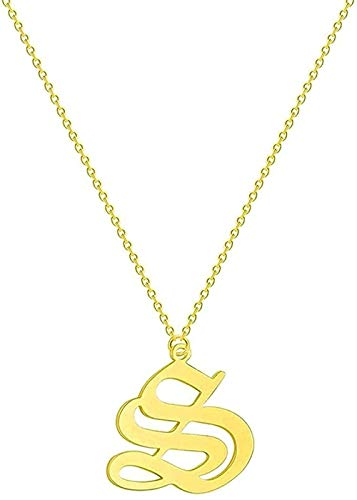 BEISUOSIBYW Co.,Ltd Collar Par Collar con Letras Hombres Mujeres Nombre de Bota Joyería de Acero Inoxidable Collar de Amistad de Oro Rosa Collar de Oro étnico