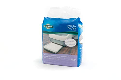 PetSafe Replacement Pee Pad Deluxe Crystal Cat Litter Box System, from The Makers of The ScoopFree Self-Cleaning Cat Litter Box, 10-Pack