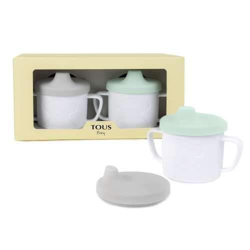 TOUS BABY - Set de 2 tazas para tu bebé. Color verde y gris ( 0 a 36 meses)