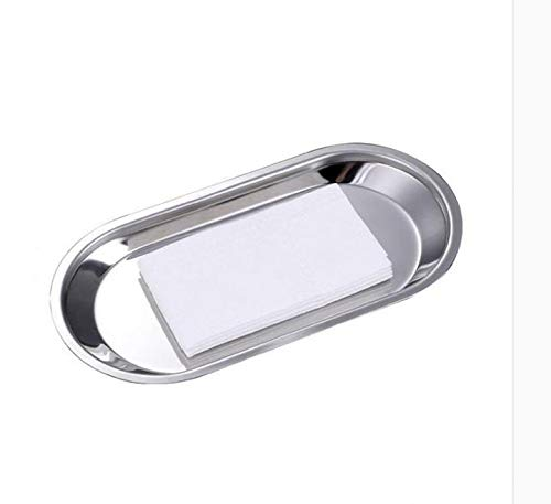 MBB Dishes Plates Comestic Jewelery Storage Holder Towel Tray Mirror Polished for Living Room Bathroom Bedroom