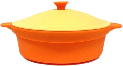 シリコンスチーマーラウンド24cmバレンシアオレンジ