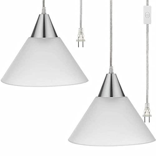 Lámpara de araña de vidrio esmerilado para cabecera, pequeño accesorio de luces colgantes para balcón de restaurante, luz de línea de techo ajustable, portalámparas E27,...