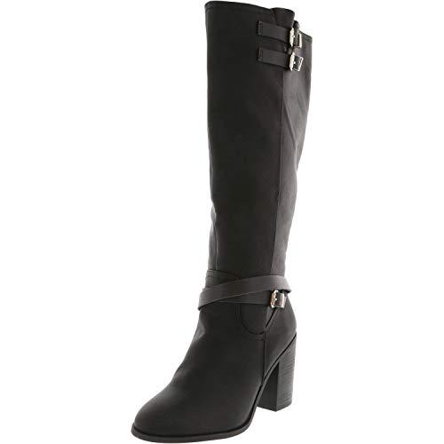 Madden Girl Womens Edrea Almond Toe Knee High Fashion Boots Black