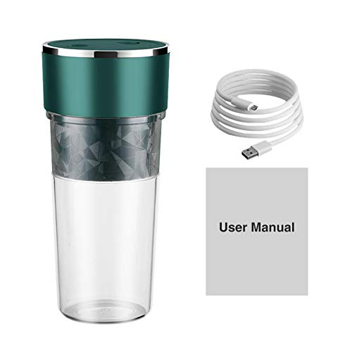 POHOVE Portable Blender Smoothie Maker Electric USB Rechargeable Juicer Cup Handheld Fruit Mixer Machine Mini Jucier Cup Powerful With Lid Home Office Sports Outdoor Travel