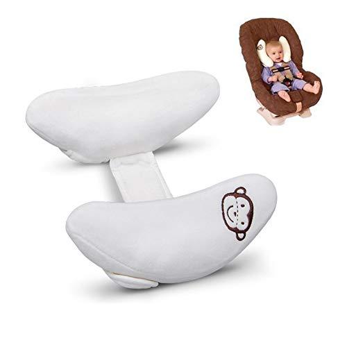 En forma de U Cochecito de cabeza y cuello de apoyo para el niño del niño recién nacido, Caja de Carseat ajustable Cojín Cuello Almohada Alivio, precioso diseño de la forma del plátano