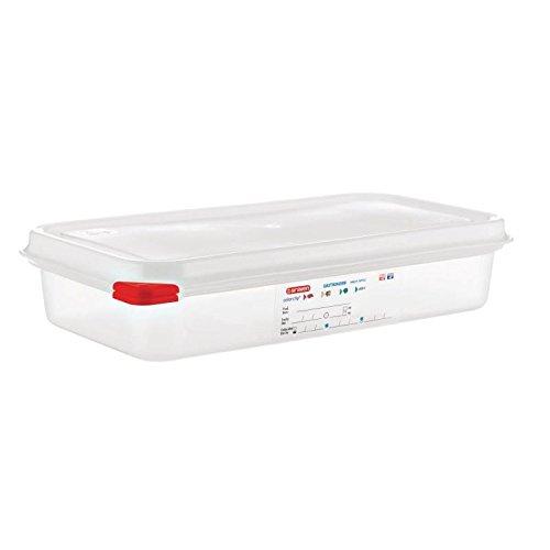 Araven 03352 PP Lot de 4 boîtes alimentaires avec couvercle GN 1/3 2,5 l Poignée 65 mm