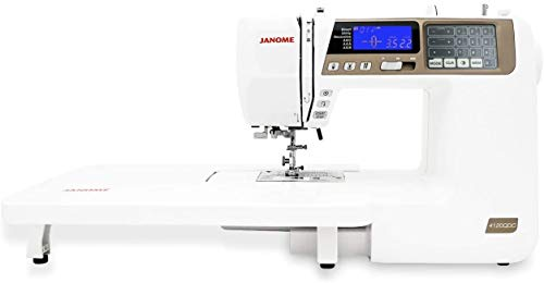 "Janome 4120QDC Computerized Sewing Machine (New 2020 Tan Color) w/Hard Case + Extension Table + Instructional DVD + 1/4"" Seam Foot w/Guide + Overedge Foot + Zig Zag Foot + Buttonhole Foot + More!"