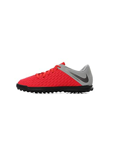 Nike Jr Hypervenom 3 Club Tf, Scarpe da Calcetto Indoor Unisex-Bambini, Multicolore (Lt Crimson/Mtlc Dark Grey-Wolf Grey 600), 32 EU