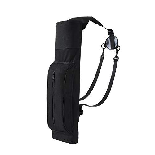 Inzopo 54 x 17 cm à prova d'água ultraleve arco aljava caça treinamento flecha preta suporte bolsa de ombro/mochila com bolso com zíper