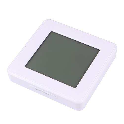 Garneck Hygromètre Numérique Thermomètre Thermomètre Dambiance Jauge Dhumidité avec Réveil Blanc