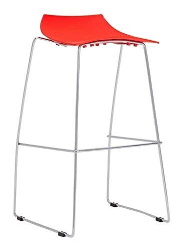 ZWWZ Taburetes de Barra Silla de Bar de Ocio Taburete de Mesa Alto Heces Salón de Belleza Salón Taburete (Color: Negro) MISU (Color : Red)