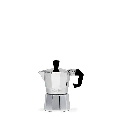 Primula Stovetop Espresso and Coffee Maker, Moka Pot for Classic Italian and Cuban Café Brewing, Cafetera, One Cup, Silver