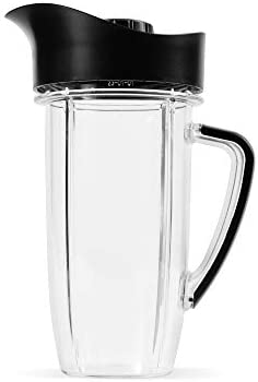 NutriBullet Rx 45 Oz Oversized Cup with Pitcher Lid Black Clear product image