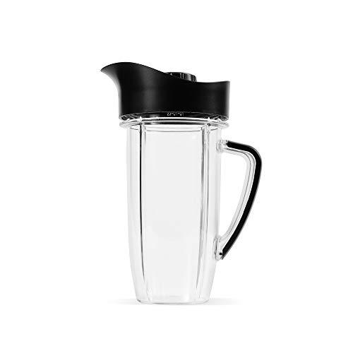 NutriBullet Rx Übergroßer Becher mit Krugdeckel, 114 ml, Schwarz/Transparent