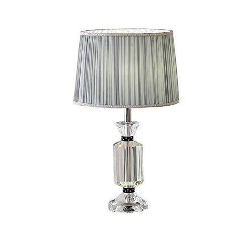 TDJJZHXYP Lámpara de Mesa de Cristal, la lámpara de Noche en el Lujoso Dormitorio Principal es romántico, Simple, Moderno