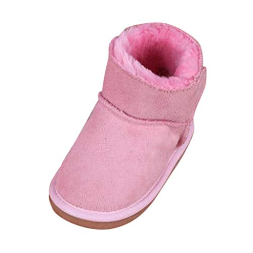 Anglewolf Baby Schuhe,Kinder Jungen MäDchen Stiefel Winter Schnee Warm Ankle Boots Kinder Schuhe Warme rutschfeste Kinderschuhe FüR Outdoor Low-Top Sneaker Turnschuhe Leuchtend Blinkschuhe
