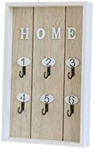 Nordic Style Wooden House Key Wall Hanging Jewelry Box Home Crafts Wall Shelf Porch Storage Rack Hanging Hook Key Boxes (C...