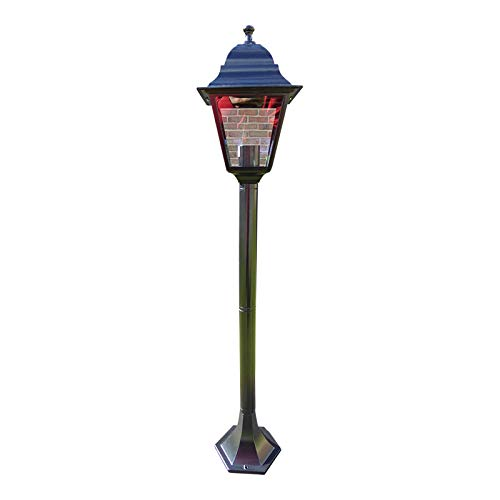 UK-Gardens 1m Victorian Garden Lamp Post - Single Head - Aluminium So Won't Rust - Garden Pathway Lighting