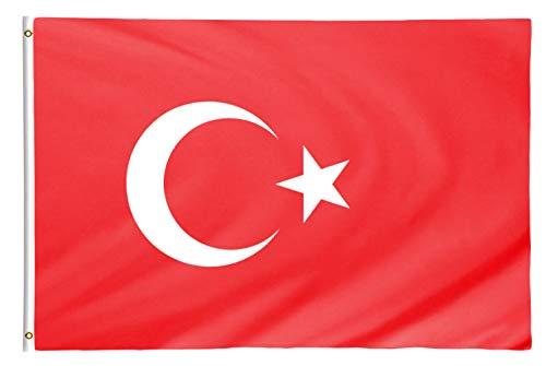 Star Cluster 90 x 150 cm Türkische Flagge/Türkei Fahne/Türk bayrağı/Flag of Turkey (TUR 90 x 150 cm)