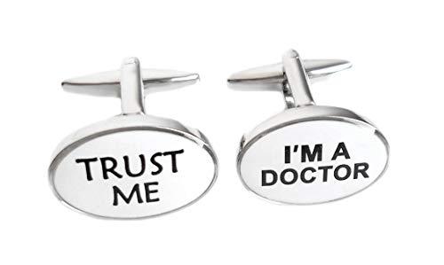 Unbekannt Arzt Manschettenknöpfe mit Text: Trust ME - I'm A Doctor zum Thema Medizin + Box