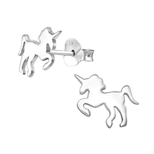 Laimons meisjes kinderen oorstekers oorbellen kindersieraden eenhoorn glanzend van sterling zilver 925
