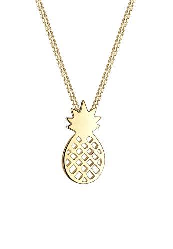Elli Halskette Damen Ananas Frucht Sommer in 925 Sterling Silber