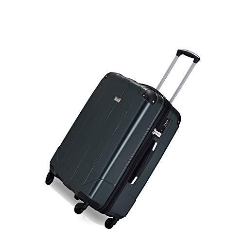Juego Maletas Set de Maletas Bolsa De Viaje Estuche De Viaje Premium con Cerradura TSA Y Asas Maletas Estuche De Equipaje ABS Liviano, L-66CM Verde Oscuro