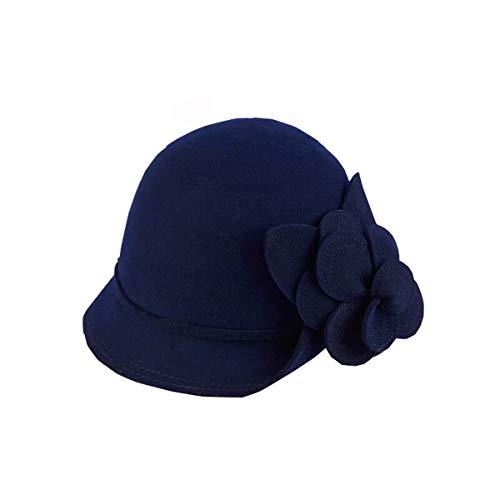 Nosterappou Kuppelblume verzierter Hut, Damenhut, Kleiner Beckenhut, Wilder Stil, Freizeitmode für Studenten (Farbe : A)