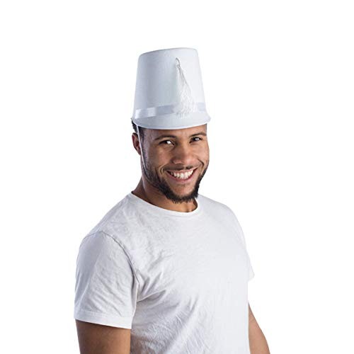 Dress Up America Chapeau de fanfare blanc adulte