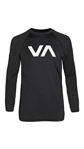 RVCA Herren Sport Long Sleeve Rashguard Rash Guard Hemd, schwarz, Medium