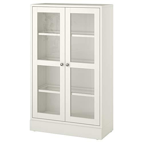 HAVSTA armario de puerta de cristal con zócalo 81x37x134 cm blanco cristal transparente
