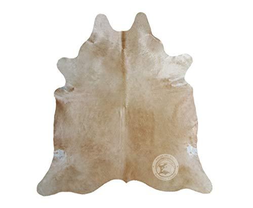 Teppich aus Kuhfell, Farbe: Beige, Größe 190 x 160 cm, Premium - Qualität von Pieles del Sol aus Spanien