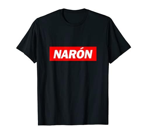 Narón Caja Roja Logo Ciudad Divertido Camiseta