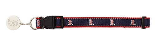 Sporty K9 MLB Reflective Dog Collar, Boston Red Sox Small