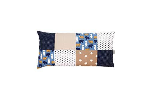 Fodera per cuscino patchwork ULLENBOOM ® sabbia, orso (40x80, cotone, ideale come cuscino decorativo nella cameretta per bambini)