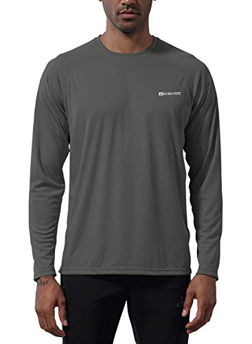 ZENGVEE Mens UPF 50+ Fishing Shirts Outdoor Long Sleeve Sun Protection Workout Shirts for Athletic, Running, Swimming, Hiking