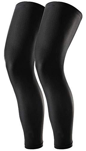 Tough Outdoors Compression Leg Sleeves - Full Leg Sleeves for Men, Women & Youth - Basketball & Football Leg Sleeves - UPF 50 Sun Protection