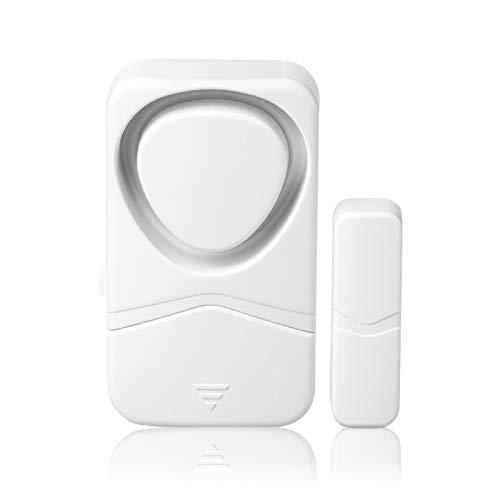 Festnight Alarmas de puertas y ventanas para seguridad del hogar Modo 4 en 1 Automatización inalámbrica Detector de intrusiones en el hogar Alarma antirrobo Sensor magnético de 110 dB, Alarma de puert