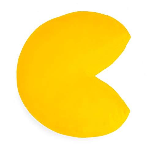 Balvi Cojín Pac-Man Color Amarillo En Forma del icónico Personaje de Videojuego Pac-Man Poliéster 35cm