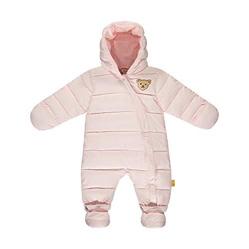 Steiff Baby-Unisex mit süßer Teddybärapplikation Schneeanzug, Rosa (Barely Pink 2560), 086
