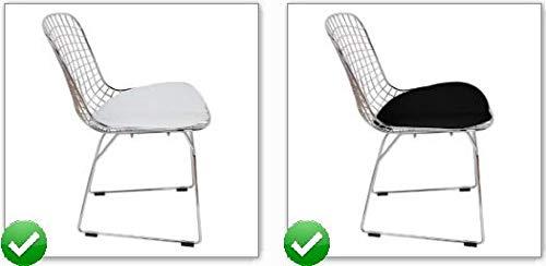 ElleDesign Bertoia Stuhl aus Stahlgeflecht, schwarz, weiß, rot