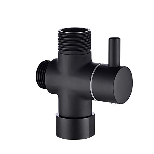 Válvula desviador de brazos de ducha de 3 vías G7 / 8 Válvula Diverente Cuarto de baño Accesorio de hardware T-adaptador de 3 vías Válvula desviador Ajustable Cabezal de ducha Para cabezal de ducha de