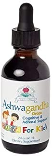 Ayush Herbs Ashwagandha Drops for Kids, Powerful Cognitive, Adrenal, Immune-System, and Full-Body Support, All-Natural Ayu...