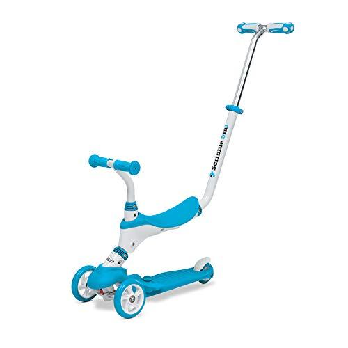 Mondo On&Go – Patinete para niños 5 en 1 – Patinete con Asiento, Pedales de Goma Suave y Grande Scooter de 3 Ruedas para niños – Edad de 1 a 5 años | MAX 50 kg – Color Azul – 28572