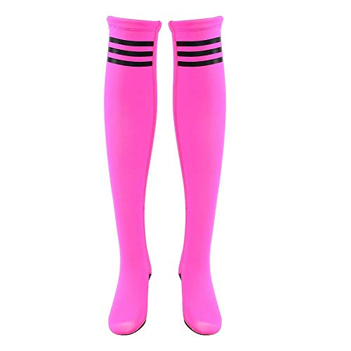 VGEBY Diving Stockings, Women's Neoprene Over Knee Diving High Socks for Surfing Swimming Beach Snorkeling(M-Rose Red-M)