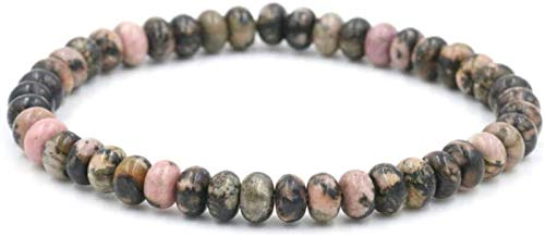 XIAOGING 2 unids Pulsera de Piedra, 7 Chakra Perlas de Piedra Natural semipreciosos Brazalete elástico joyería Yoga Reza energía Equilibrio Encanto difusor Afortunado Pulsera Hombres para Regalo
