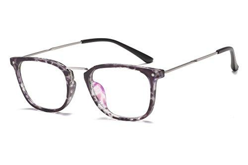 Embryform Caja redonda Trend TR90 Lentes transparentes para montura de gafas