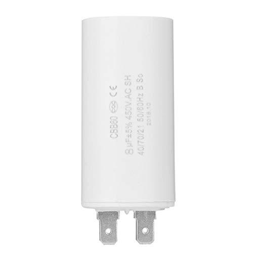 Aramox Motorstartkondensator, CBB60 Motorstartkondensator 450V 8uF Mikrofarad Kondensator-Flachstecker
